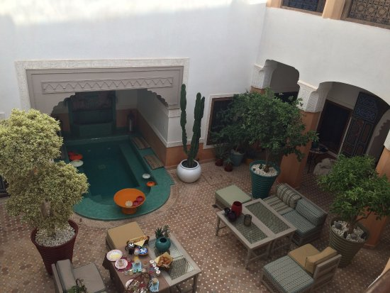 Riad Aguerzame: View from my Azrah room window