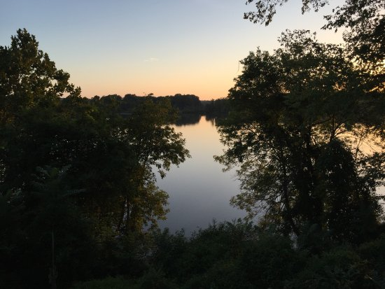 King George, Βιρτζίνια: The Rappahannock River from the verandah of Belle Grove