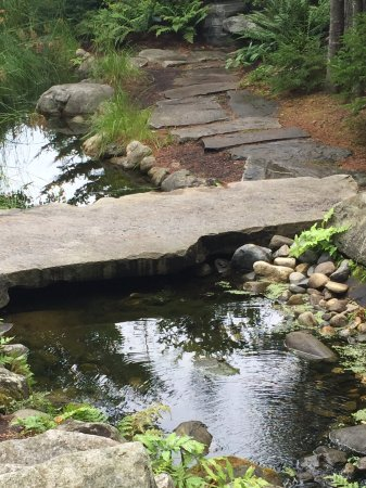 Coastal Maine Botanical Gardens: Stone features integrated into the landscapes