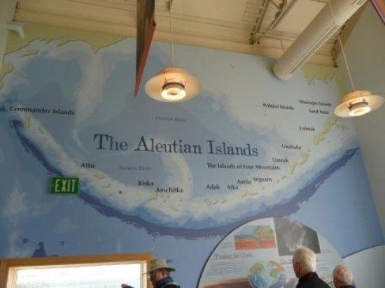 Unalaska, AK: painting of the islands