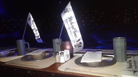 Medieval Times - table setting. - Picture of Medieval Times Dinner ...