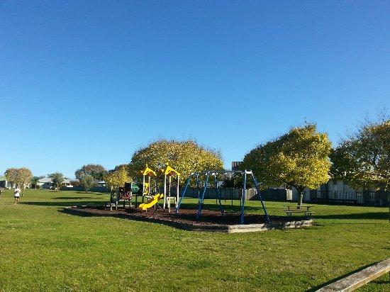 Playground and park opposite Tudor Park Motel