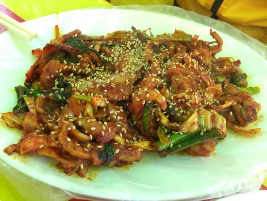 In Festival Pojangmacha We Also Had Chicken Feet Korean Seafood