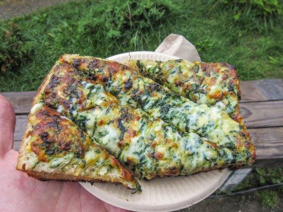 Spinach Bread: Spinach, Cheese & Garlic on Bread