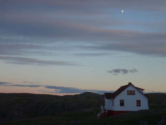 Quirpon Island, Canada: Second house (and the moon)