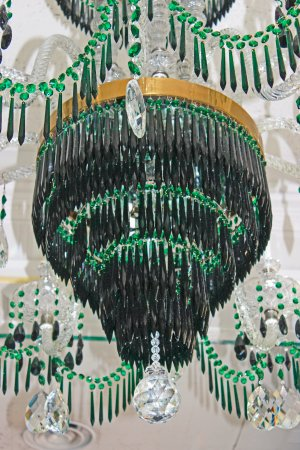 The Greenbrier: One of many, MANY elegant chandeliers in the hotel.