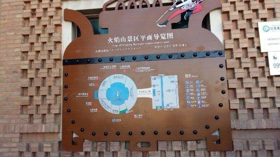 Turpan, China: info board