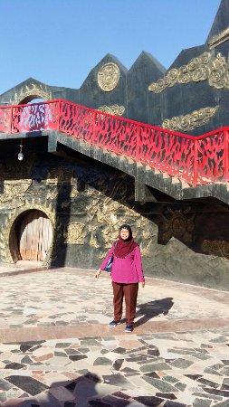 Turpan, China: stairs to the desert