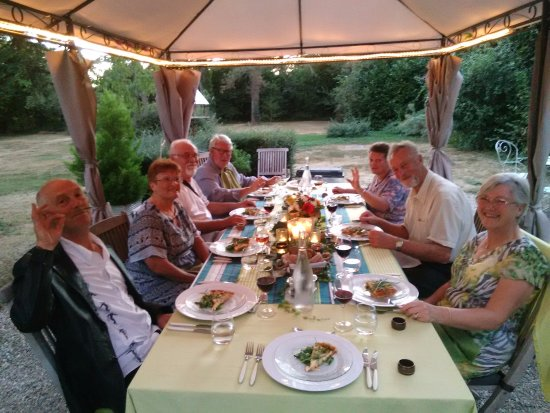 Celon, France: nous voici avec nos hôtes anglais
