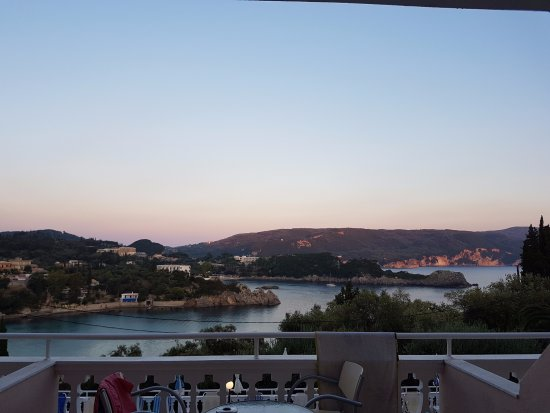 Odysseus Hotel: View from our balcony