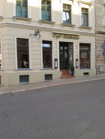Meerane, Allemagne : vordere Hausansicht des Cafe`s