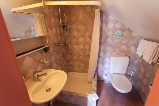 Hotel Jungfrau: The bathroom in room no 326 was cramped.