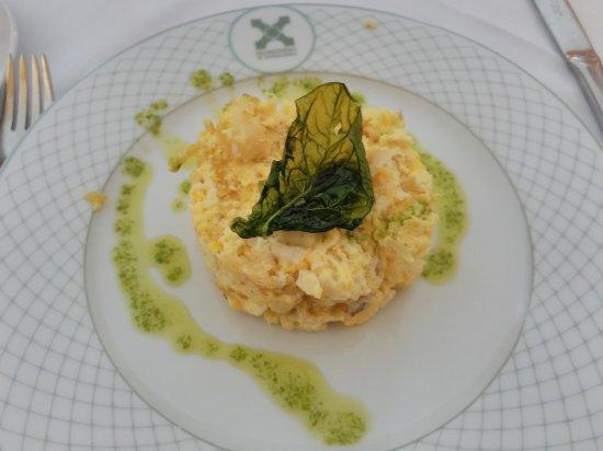 Alcantara, Spanien: bacalao a la dorada
