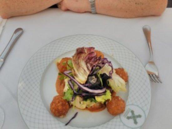 Alcántara, España: ensalada de queso