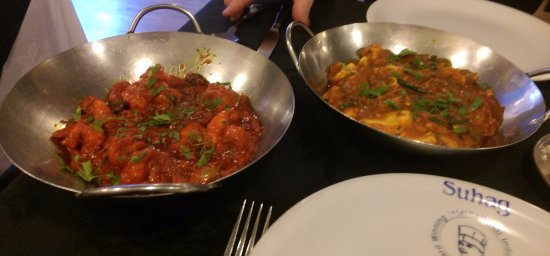 ‪‪Denton‬, UK: King Prawn Desi & Chicken Sylheti‬