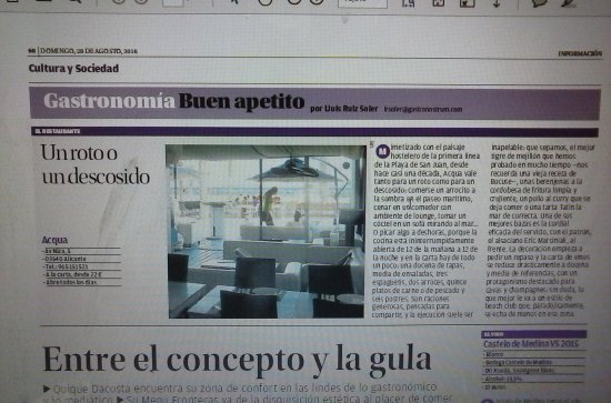 ANOTHER NEWSPAPER FOR ACQUA CHIC
