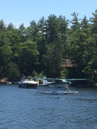 The Waubic: Watching the planes land for lunch
