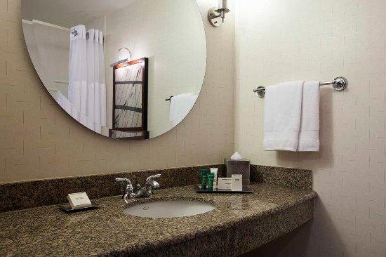 Hilton Boston Logan Airport: Standard Guest Bathroom