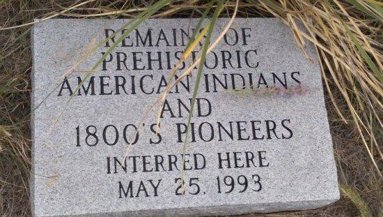Ogallala, NE: Boot Hill Cemetery Marker