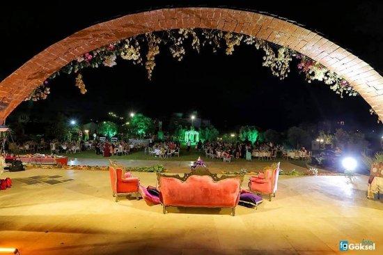 Trikomo, Chipre: Çim alan Kemerli Bahçe