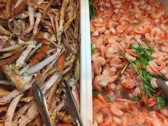 the buffet at aria very nice selection of sea food deserts and salads