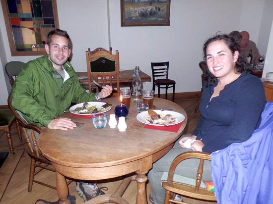 The Islay Hotel: We kept meeting other visitors to town —this is John and Charlotte, who had a great dinner, too