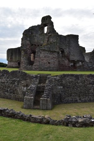 Rhuddlan, UK: View of Castle from side of car park