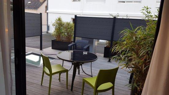 "Les Vents de la Mer : Our ""garden view"" from the room"