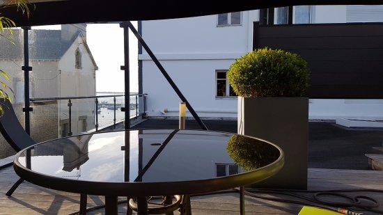 """Les Vents de la Mer : This is the """"ocean view"""", costs 30 euro extra per night !"""