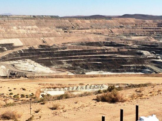 Boron, Californië: Open Pit Borax Mine