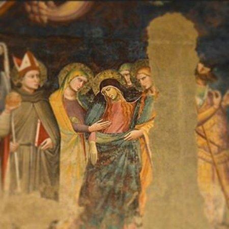 Chiesa di San Francesco : Una scena del ciclo di affreschi della suggestiva Cappella Migliorati