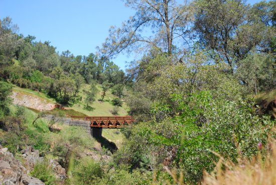 Auburn, CA: A bridge along the trail just past the falls