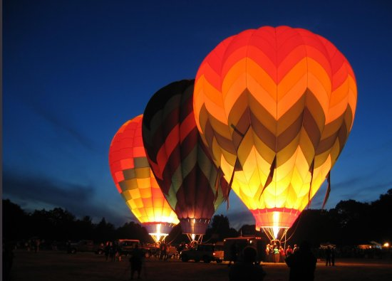 Solana Beach, Kalifornien: Hot Air Ballooning