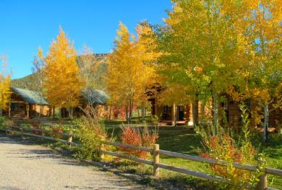 Ririe, ID: Inn cabins set among Fall color Aspen Trees
