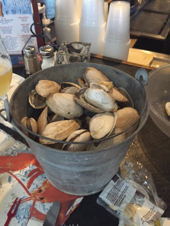 J's Oyster : Large bucket of steamers