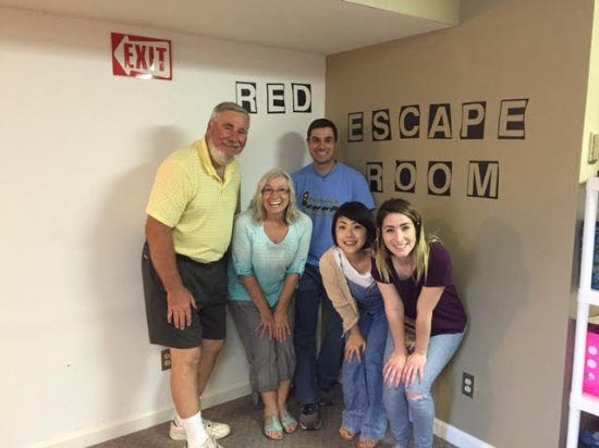 Sierra Vista, AZ: Our family outside the Red Escape Room
