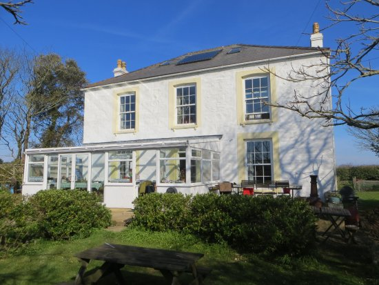 Le Vieux Clos: of house with conservatory where food is served and cream teas.