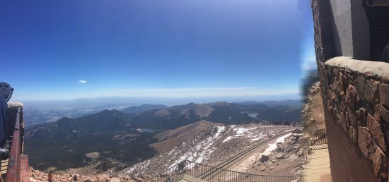 Pikes Peak Cog Railway View From The Top