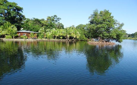 Isla San Cristobal, Panama : Island Cottage at Dolphin Bay Cabanas