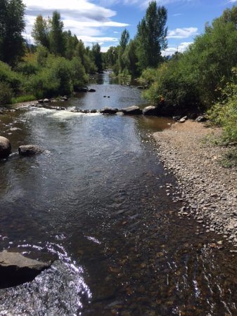 Yampa River Core Trail: Yampa River from 1 of several bridges
