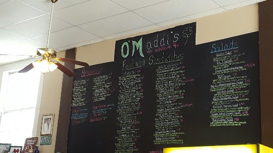 Northfield, VT: Very large deli menu