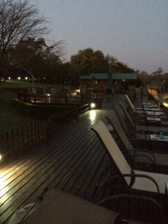 Sabie River Bush Lodge: Terrasse