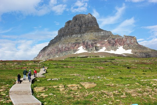 West Glacier, MT: The trail consists of both wood plank, to protect the flora, and solid dirt and rock. Rated easy