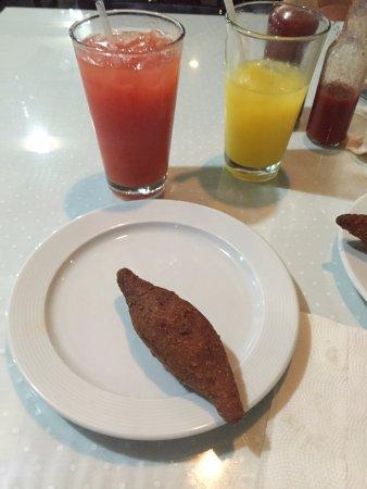 Shish Kabab: Kipe and Orange Juice