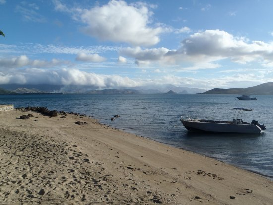 Rakiraki, Fiji: The bay is calm with water that is warmer then the open water.