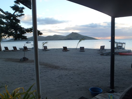 Rakiraki, Fiji: View from the bar. I bet the sunset with the island your looking at are great