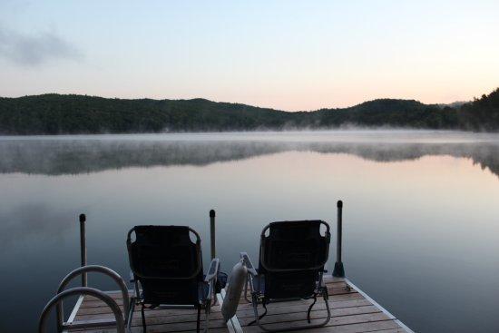 Benson, VT: twilight on the lake