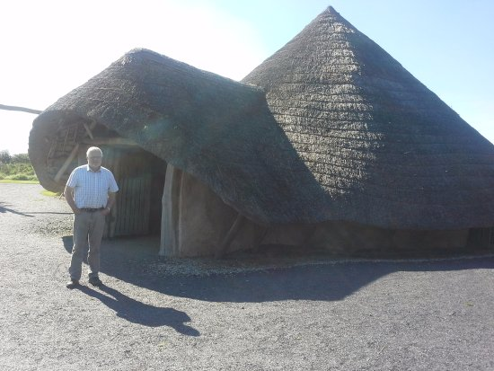 Llanddeusant, UK: Iron Age dwelling reconstruction at Llynnon Mill, Anglesey