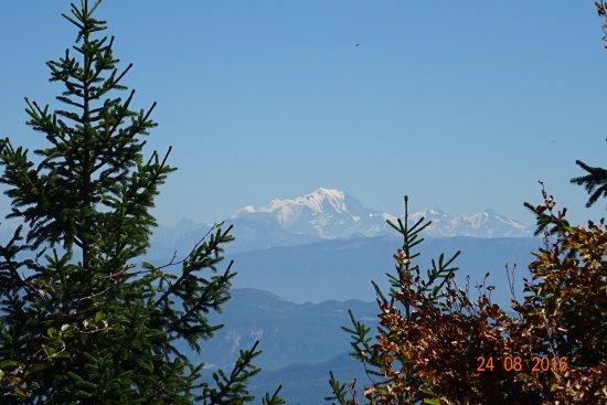 Les Avenieres, Γαλλία: vue d inimont sur le mont blanc