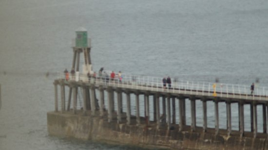 The Sandbeck: End of the pier viewd through my camera from the room